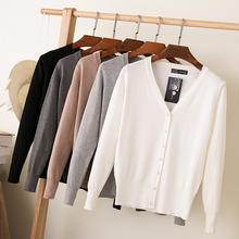 Hot Spring Autumn Fashion Women Loose Cardigans V Collar OL Long Sleeve Sweater Coat Gifts