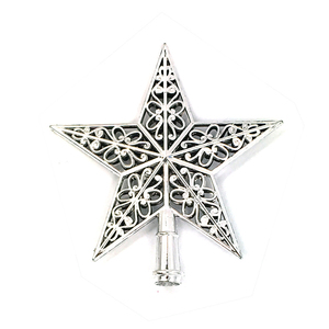Image 1 - Cute Colorful Star Christmas Tree Top hollow five pointed stars Sparkle Hang Xmas Decoration Ornament Treetop Topper Dimensional