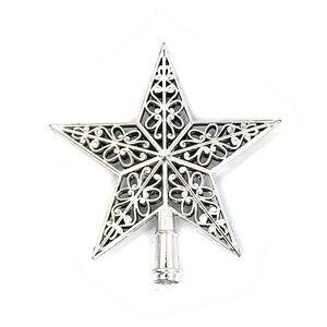 Image 1 - น่ารักที่มีสีสัน Star ต้นคริสต์มาส Hollow ห้าดาว Sparkle Hang Xmas เครื่องประดับตกแต่ง Treetop Topper มิติ
