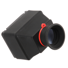 "Universal 3 ""3x tela lcd zoom eyecop visor para 3.0"" tela dslr câmera de borracha"