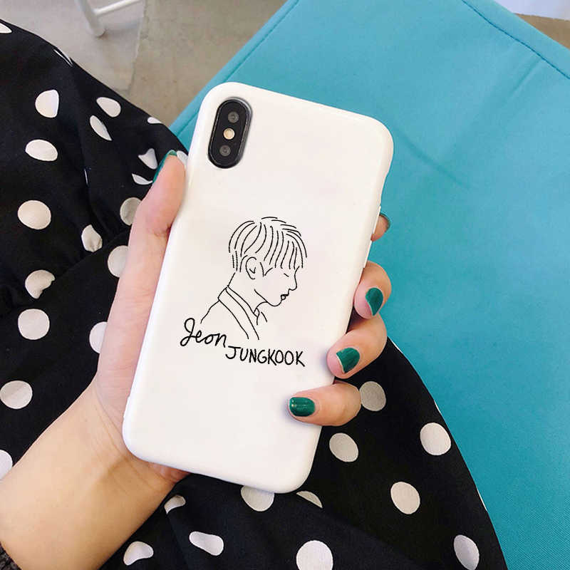 Euphoria Boys KPOP Mans мягкий силиконовый черный чехол для телефона чехол для iPhone 5 5S SE 6 6s 7 8 plus X Xs XR MAX kim namjun seokjin