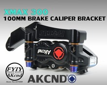 AKCND Motorcycle Brake Caloper Bracket Adapter For Yamaha xmax 300 X-Max 267mm and 100mm Calipers