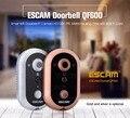 Hot Escam QF600 HD 720P 1MP Wireless WIFI Doorbell Video Door Bell Phone Security Door Camera Monitor Viewer  IOS Android Ipad
