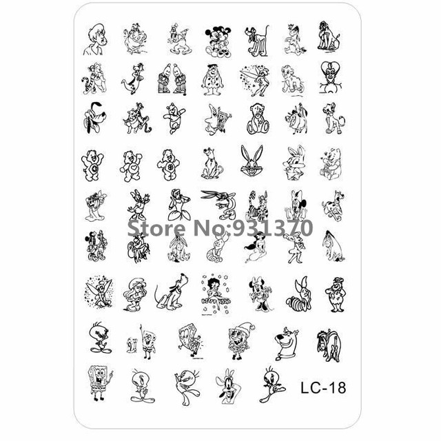 10PCS/LOT New Cartoon Medium SIZE XL Stamp Image Plate Stamping ...