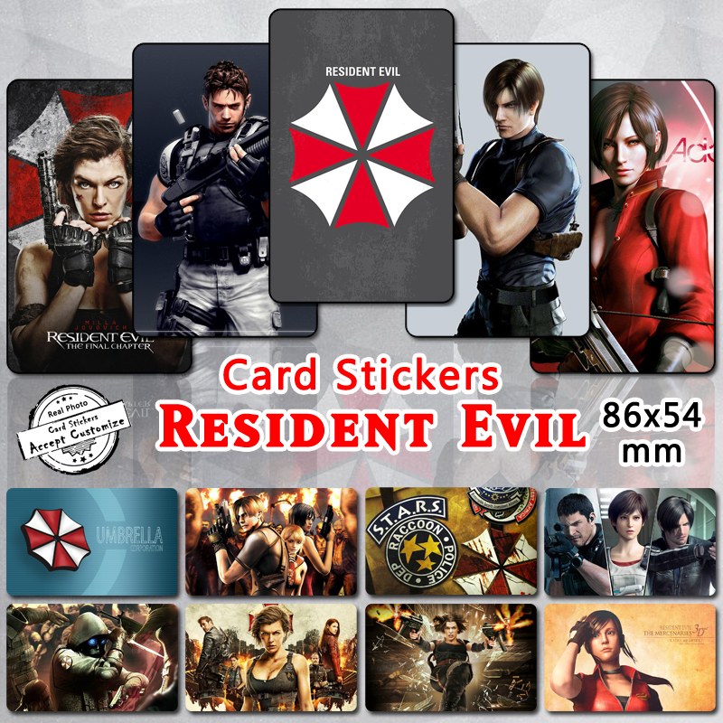 35pcs Resident Evil Characters Stickers Chris Leon Claire Ada Milla Jovovich Umbrella Classic Video Game Movie Series Sticker