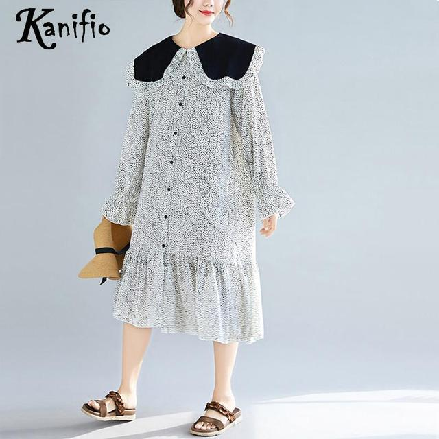 0ca82a8b8f07 Kanifio Plus Size Women Long Sleeve Bohemian Spring Maxi Dress 2019 Ladies  Cotton Linen Boho Beach Wear Long Dresses Vestidios