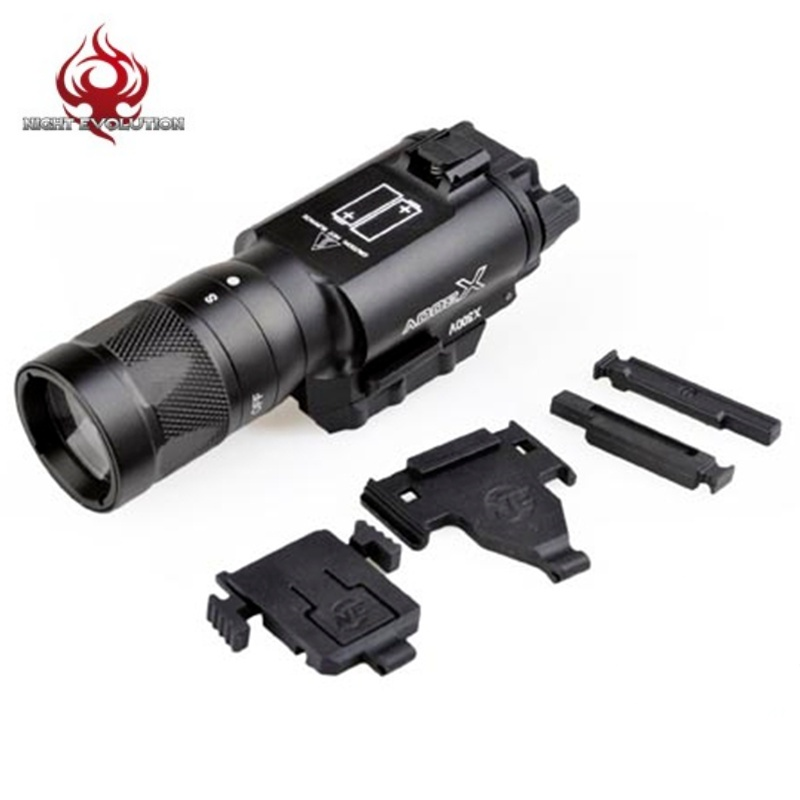 Night Evolution X300V LED Flashlight Tactical Weapon Light Airsoft Pistol Gun Light Strobe Version NE01010 night evolution wmx200 tactical gun light led flashlight strobe remote tail switch ir light for picatinny rail spotlight hunting
