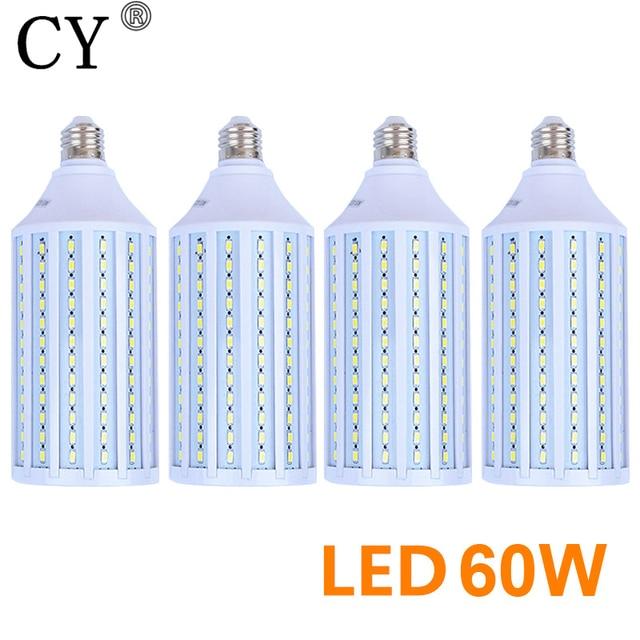 New 4pcs 60W E27 220v Photo Studio Bulb 5730 SMD LED Video Light Corn Lamp Bulb & Tubes Photographic Lighting