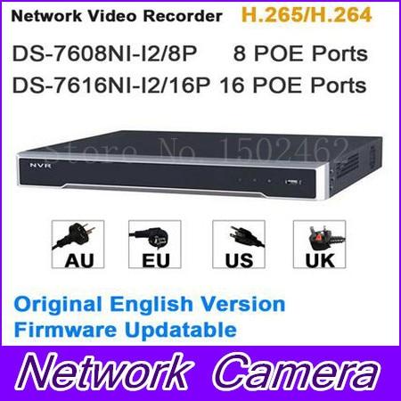 все цены на  Original Internation Version Embedded Plug & Play 4K NVR POE 8CH and 16CH DS-7608NI-I2/8P DS-7616NI-I2/16P H.265/H.264  онлайн