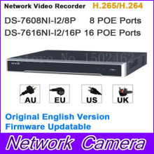 Original Internation Version Embedded Plug & Play 4K NVR POE 8CH and 16CH DS-7608NI-I2/8P DS-7616NI-I2/16P H.265/H.264