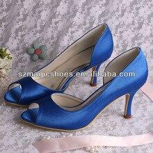 Wedopus MW173 P Eep Toeแต่งงานรองเท้าสีฟ้า8เซนติเมตรส้นผู้หญิงปั๊มDropshipping