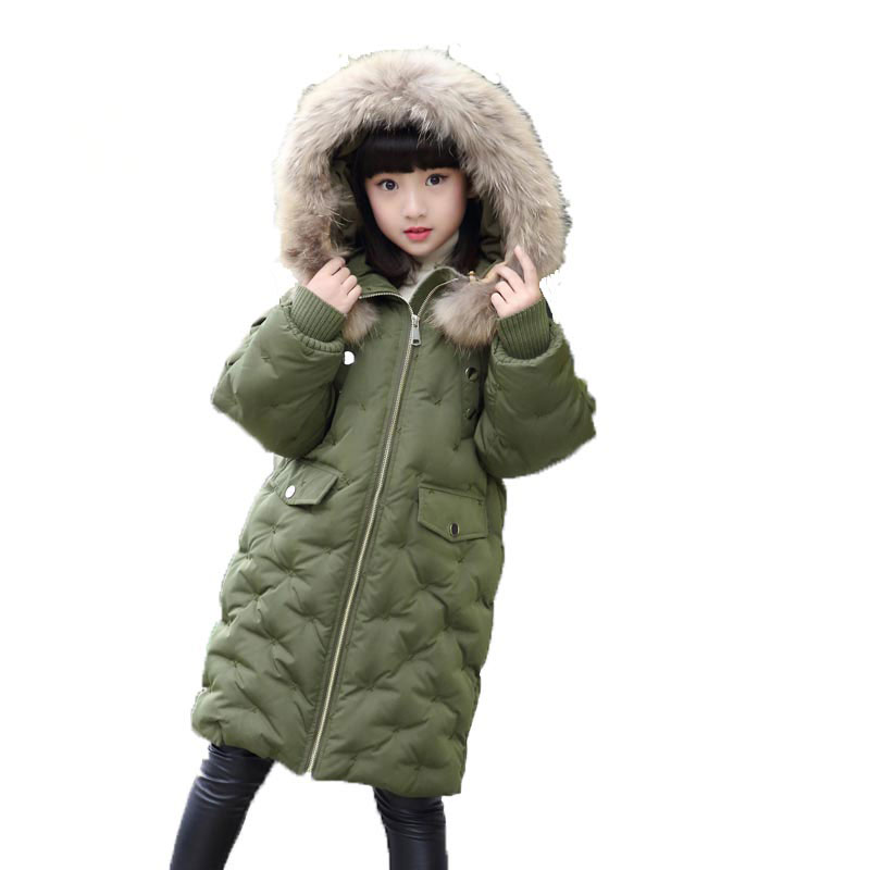 Winter Down Jacket Boys Coat For Baby Girls Clothes Children Warm Outwear Cute Solid Color High Quality Clothing Hooded Snowwear 2017 children wool fur coat winter warm natural 100% wool long stlye solid suit collar clothing for boys girls full jacket t021
