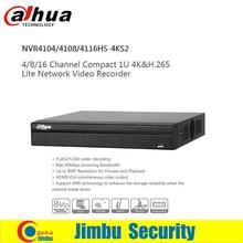 Dahua 4 K Vidéo enregistreur DVR 4ch 8ch 16ch NVR4104HS-4KS2 NVR4108HS-4KS2 NVR4116HS-4KS2 H.265 8MP Résolution
