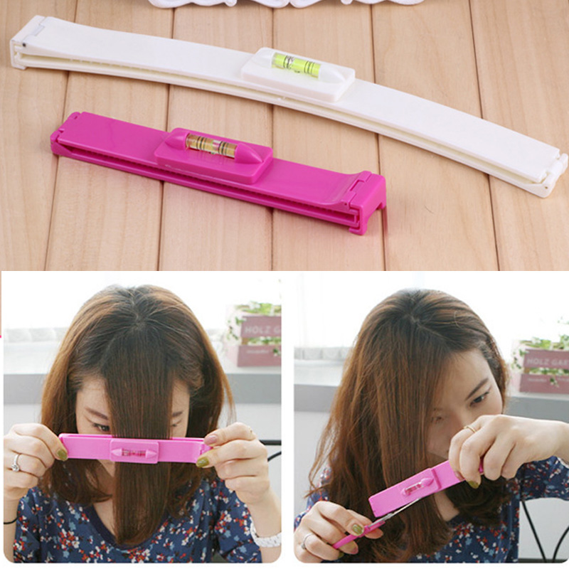 Personal Care Appliance Parts Women Girl Fashion Clipper Fringe Hair Cutting Guide Layer Bang Level Ruler Tool
