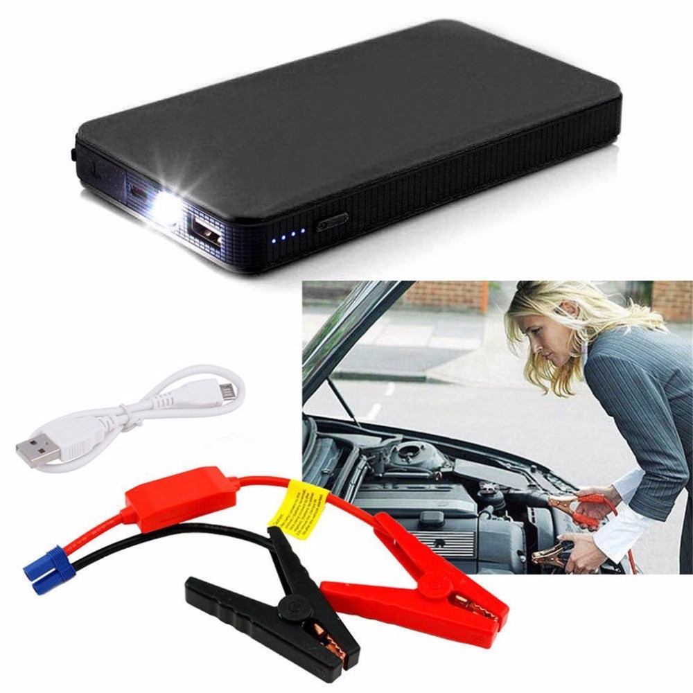 12V 20000mAh Mini Portable Multifunctional Car Jump Starter Power Booster Battery Charger Emergency Start Charger Colorful newest 50800mah 12v car emergency start power bank vehicle jump starter booster portable current battery charger three light hot