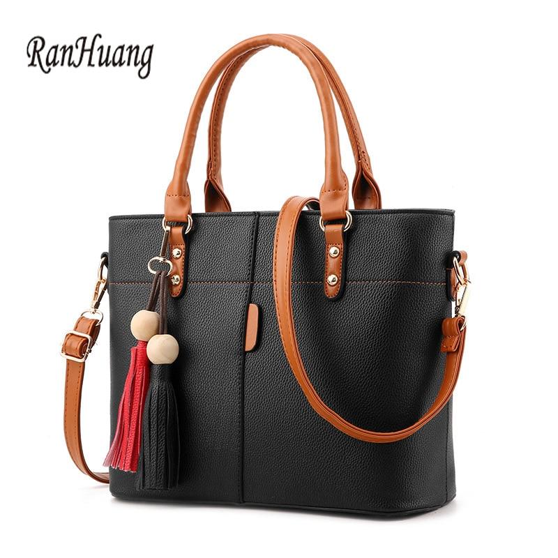 RanHuang New 2017 Women Fashion Handbags Tassel Desig Handbags PU Leather Womens Elegant ...