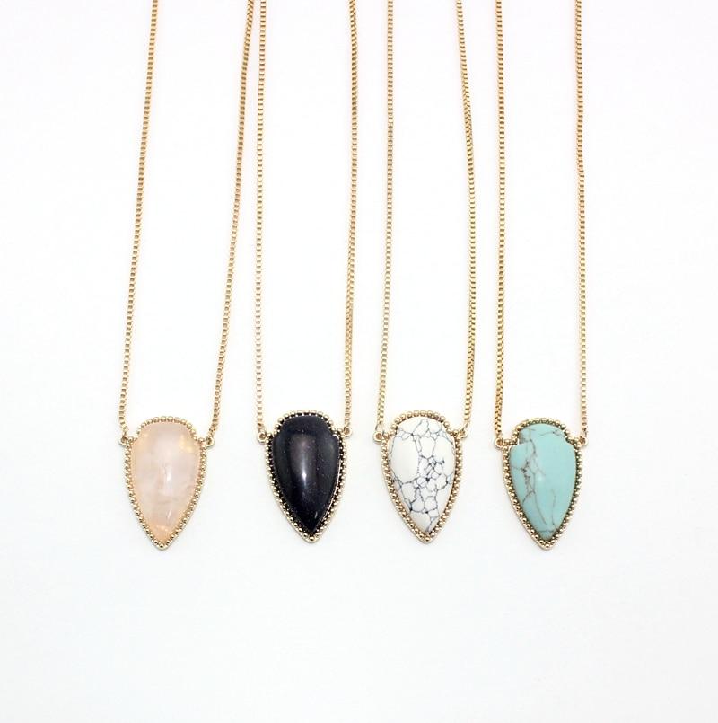 1f43243e4 Long Pendant Necklace Big Arrow Stone 4 Colors Chunky Pendants Necklace for  Women Factory Wholesale