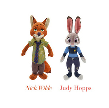 2016 New Movie 33cm Zootopia Plush Toy rabbit Judy Hopps Nick Sets Wilde police women cute Plush soft doll For Kids Toys
