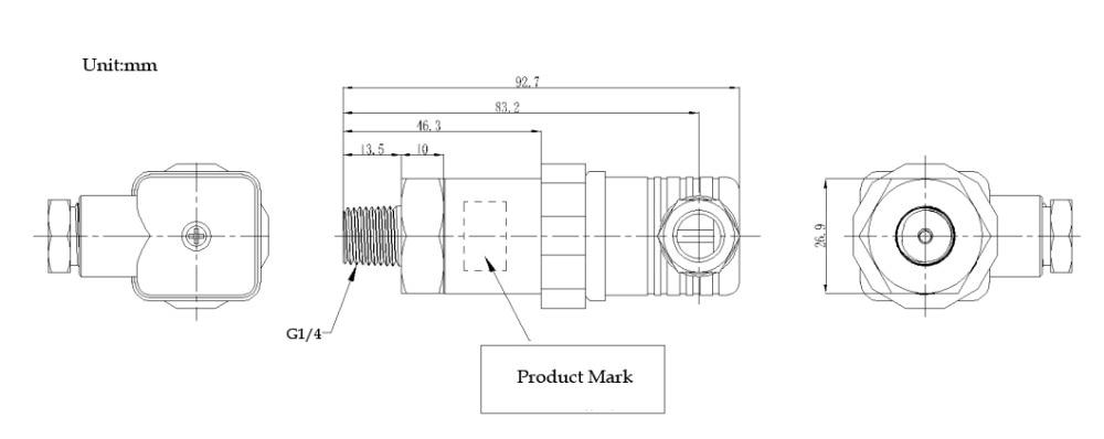 Aukščiausios kokybės 10–59 bar slėgio siųstuvo slėgio - Matavimo prietaisai - Nuotrauka 2