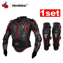 HEROBIKER Motorradjacke Körper Rüstung Schutz Gears Motocross Gelände Körperschutz Jacke + Motorrad Knieschützer