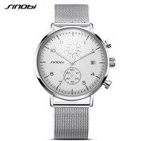 SINOBI New Men Watch Brand Business Watches For Men Ultra Slim Style Wristwatch JAPAN Movement Watch