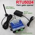 Frete grátis RTU5024 GSM porta Automática Da Garagem Swing Abridor de Portão Deslizante suporte App GSM controlador de acesso remoto para casa