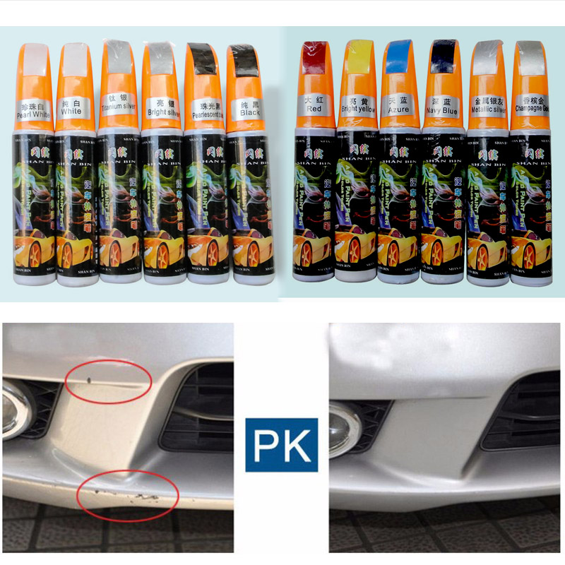 1pcs Car Paint Care Scratch Repair Auto Paint Scratch Care Remover Paint Care Auto Paint Pen White Red Silver Blue Gray Black Ye