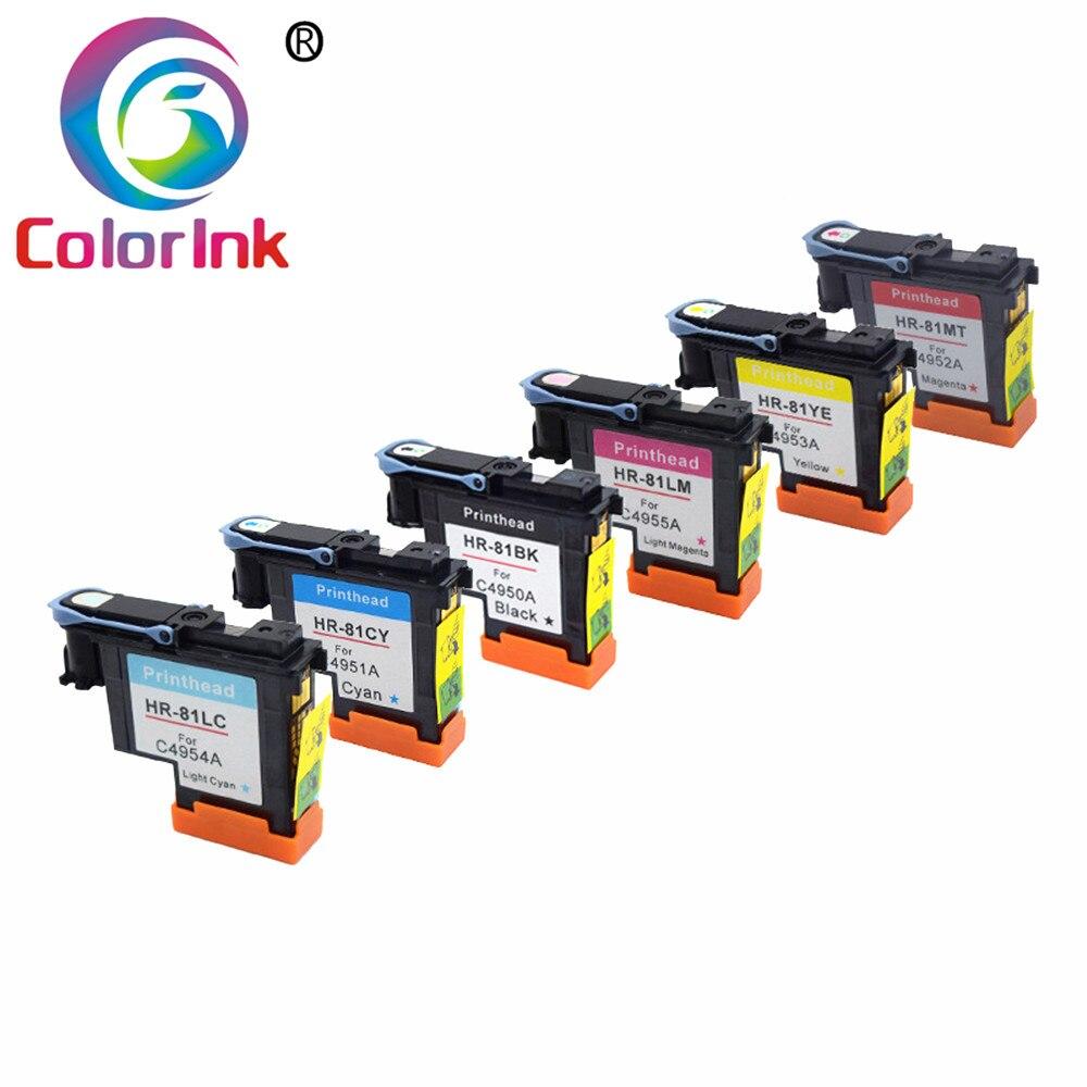 Tête d'impression ColoInk 81 pour tête d'impression HP 81 Compatible pour imprimante HP Designjet 5000 5000 PC 5500 5500 PS avec encre de qualité Stable