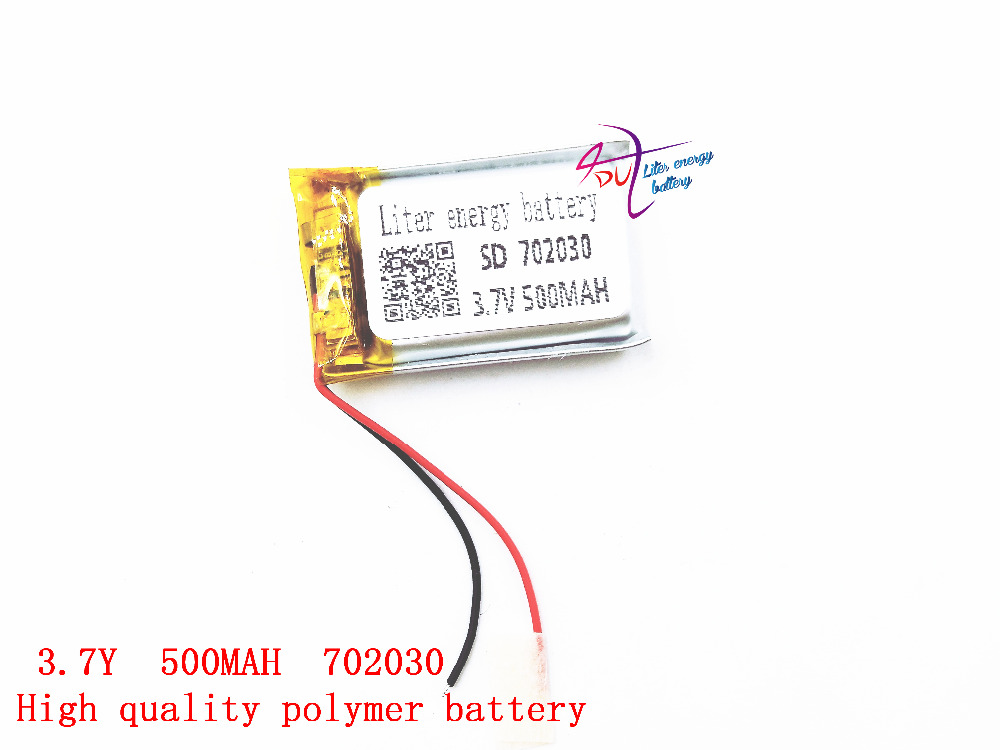 цена на 3.7V lithium polymer battery 072030 702030 500MAh MP3 Bluetooth stereo audio card small toys