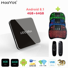 HAAYOT H96 MAX X2 Amlogic S905X2 Android 8,1 Smart TV BOX 4 K 4 GB Media Player 64 GB DDR4 quadCore USB3.0 2,4G y 5 GHz Dual Wifi caja de(China)