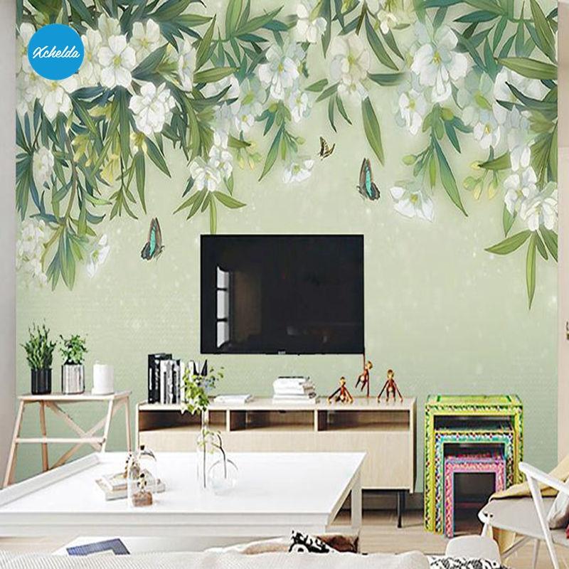 XCHELDA Custom 3D Wallpaper Design Tea Tree Photo Kitchen Bedroom Living Room Wall Murals Papel De Parede Para Quarto kalameng custom 3d wallpaper design street flower photo kitchen bedroom living room wall murals papel de parede para quarto