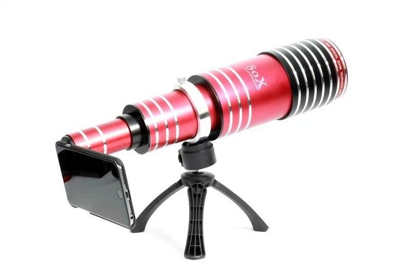 High end 3in1 80x metal zoom telephoto lens telescope phone camera
