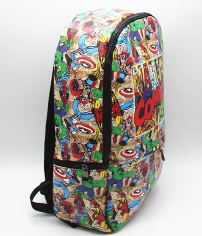 Super héros sac à dos PU cuir Marvel Comics ordinateur école livre sac 42x30x12 cm - 2