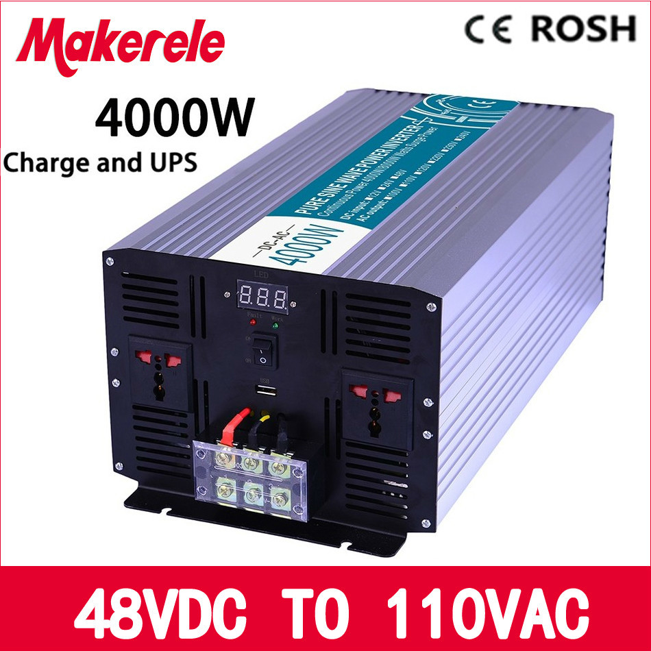 MKP4000-481-C pure sine wave 48v to 110v off grid 4000w UPS inverter solar inverter voltage converter with charger and UPS p800 481 c pure sine wave 800w soiar iverter off grid ied dispiay iverter dc48v to 110vac with charge and ups