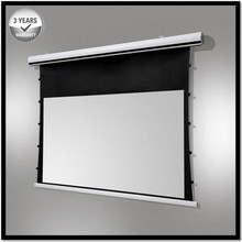 Premium Tab-Tension, 180-inch 16:9, 4K Tensioned Electric Motorized Projection Projector Screen, T2180HHPA