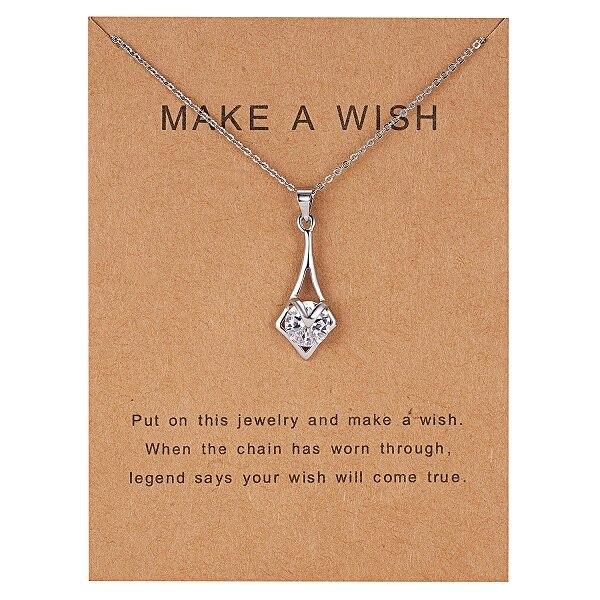 Rinhoo 7,5*10 см, подвеска в виде дельфина из бумаги с натуральным камнем в форме капли воды, геометрическая форма, ожерелье для женщин, аксессуары, подарок - Окраска металла: NC18Y0612