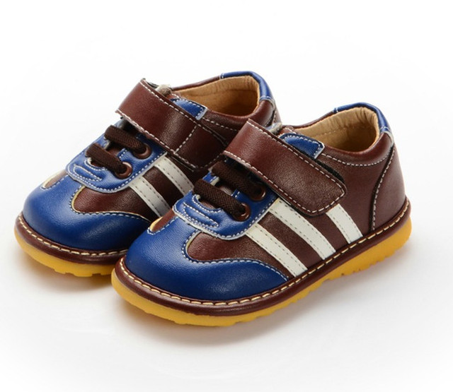 New Spring Autumn Children Boy Leather Shoes Fashion Baby  Boy Toddler Squeaky Shoes Free Shipping