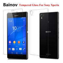 2pcs 9H Front and Back Tempered Glass For Sony Xperia Z5 Premium Z3 Compact Z1 Z2 Z3 Screen Protector protective glass film(China)