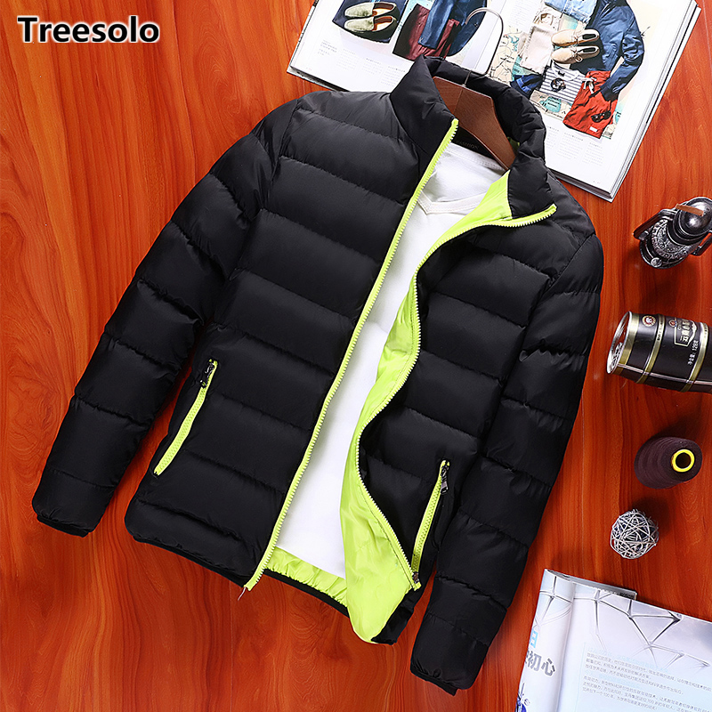 Thickening Winter Jackets Mens 2019 Cotton-Padded Brand Menswear Fashion Parkas Men's Windbreakers Coat Overcoat Outerwear 1104