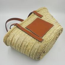 Summer Raffia Handbag Travel Palm Basket Tote Morocco Luxury