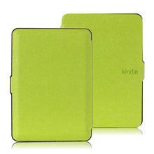 Cuero de la pu case cubierta para amazon kindle 7 2014 (7th generation) + 2 unids protector de pantalla