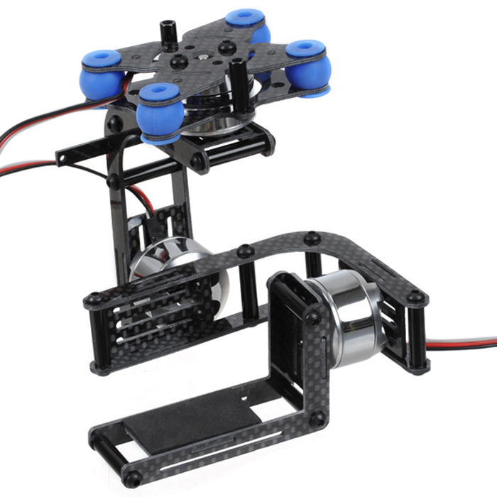 F06920 JMT Carbon 3-axle Brushless Gimbal Camera Mount W/ 3 Motors Controller for Gopro 2 3  Multicopter FPV + FS carbon 2 axle brushless camera gimbal ptz full set plug