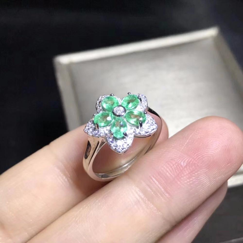 New woman ring, natural emerald, good color, beautiful color, 925 silverNew woman ring, natural emerald, good color, beautiful color, 925 silver