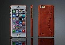 Ультратонкий Моды 100% Полный зерна Натуральная Кожа Обложка Чехол для Apple iPhone 6 6 S Высокое Качество Масла воск Марки оригинал