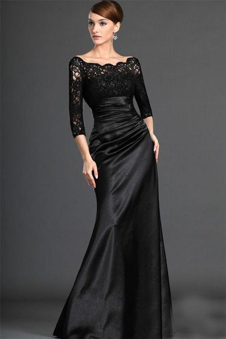 Aliexpress.com : Buy 2015 Elegant Long Sleeve Evening Dress Abiti ...