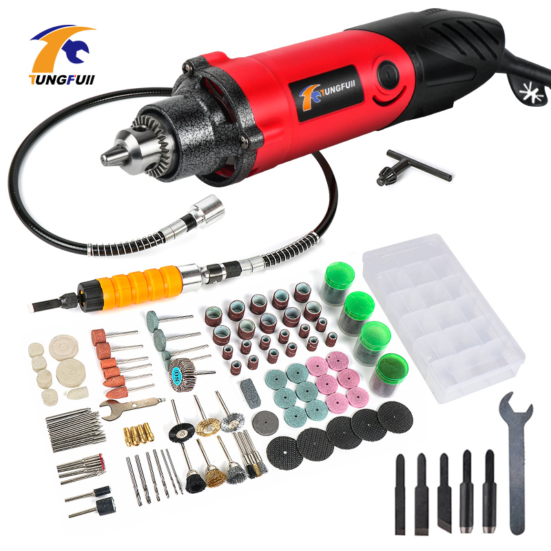 Tungfull Drill Engraver Tool Set 500W Carving Polishing Grinding Mini Drill Electric Engraver Dremel Style Rotary Tool Wood