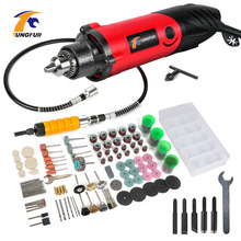 Tungfull Drill Engraver Tool Set 500W Carving Polishing Grinding Mini Electric Dremel Style Rotary Wood
