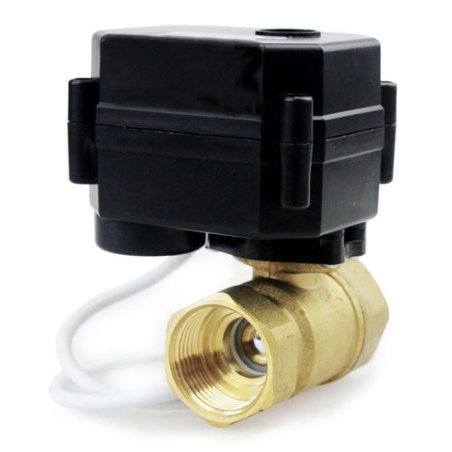 New 2 Way 3/4 Inch DN20 12V/24VDC Brass Normally Closed/Position Feedback Motorized Electrical Ball Valve