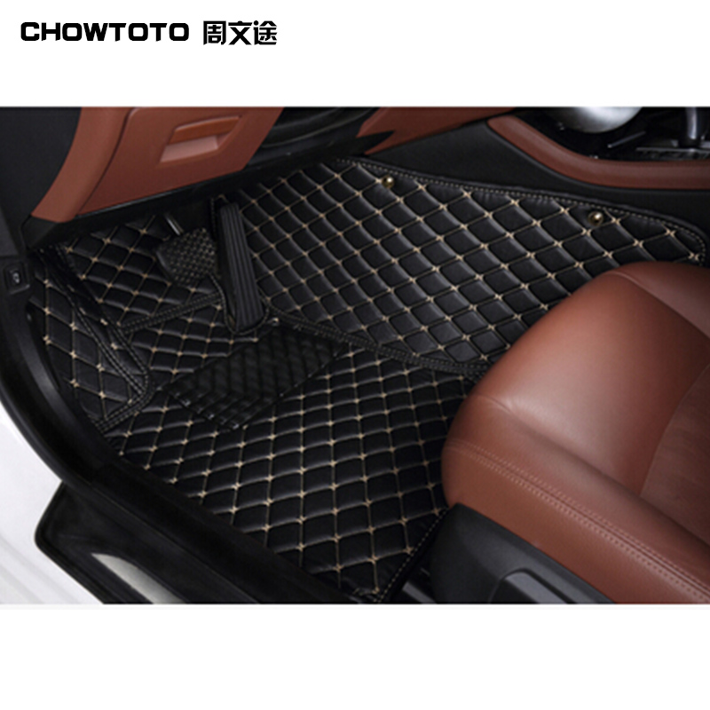 CHOWTOTO AA Custom Special Floor Mats For Toyota Venza Waterproof Carpets For Venza Car Styling Foot Mat