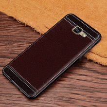 Case for Galaxy A7 2016 Leather Texture Soft TPU Case For Samsung Galaxy A7 2016 A710 A7100 A710F A710M